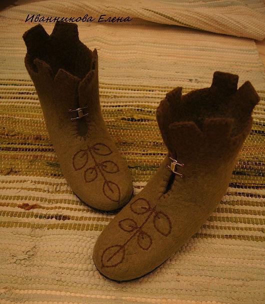 """Обувь ручной работы. Ярмарка Мастеров - ручная работа. Купить валенки детские """"растительная жизнь"""". Handmade. Валенки детские"""