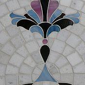 """Для дома и интерьера ручной работы. Ярмарка Мастеров - ручная работа """"Королевские лилии"""" кованый стол с мозаикой. Handmade."""