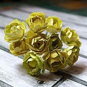 Материалы для творчества handmade. Livemaster - original item the yellow peony bouquet. Handmade.