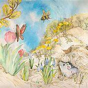 Картины и панно ручной работы. Ярмарка Мастеров - ручная работа Мышкина весна. Handmade.