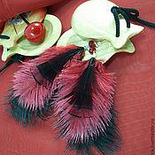 Украшения ручной работы. Ярмарка Мастеров - ручная работа Серьги Страсть. Легкие серьги с перьями. Handmade.