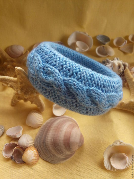 """Браслеты ручной работы. Ярмарка Мастеров - ручная работа. Купить Браслет вязаный """"Голубая лагуна"""". Handmade. Синий, украшение, море"""