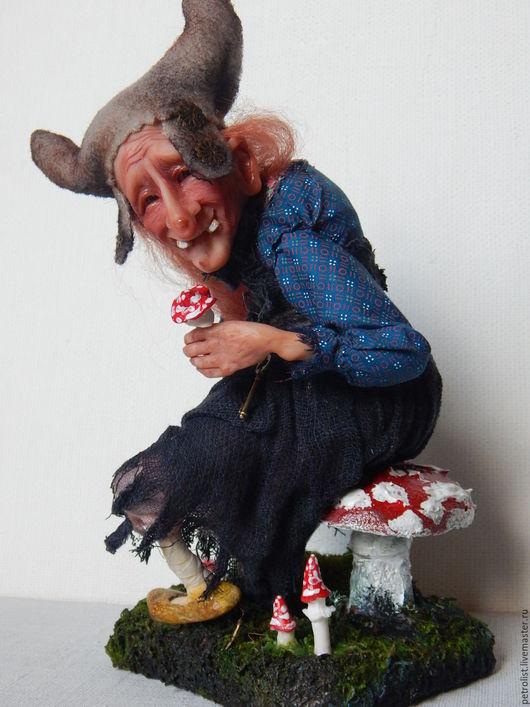 Коллекционные куклы ручной работы. Ярмарка Мастеров - ручная работа. Купить Молодильные мухоморы  миниатюрные. Handmade. Комбинированный, авторская кукла