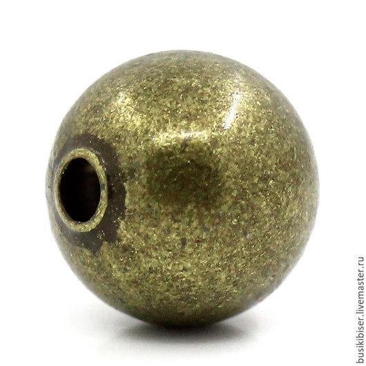 Бусины металлические `Античная бронза` 8 мм.