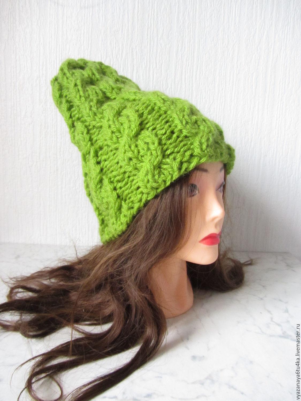 Light green cap ' Green peas ', Caps, Moscow,  Фото №1