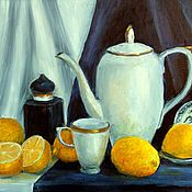 Pictures handmade. Livemaster - original item Oil painting. lemons. Handmade.