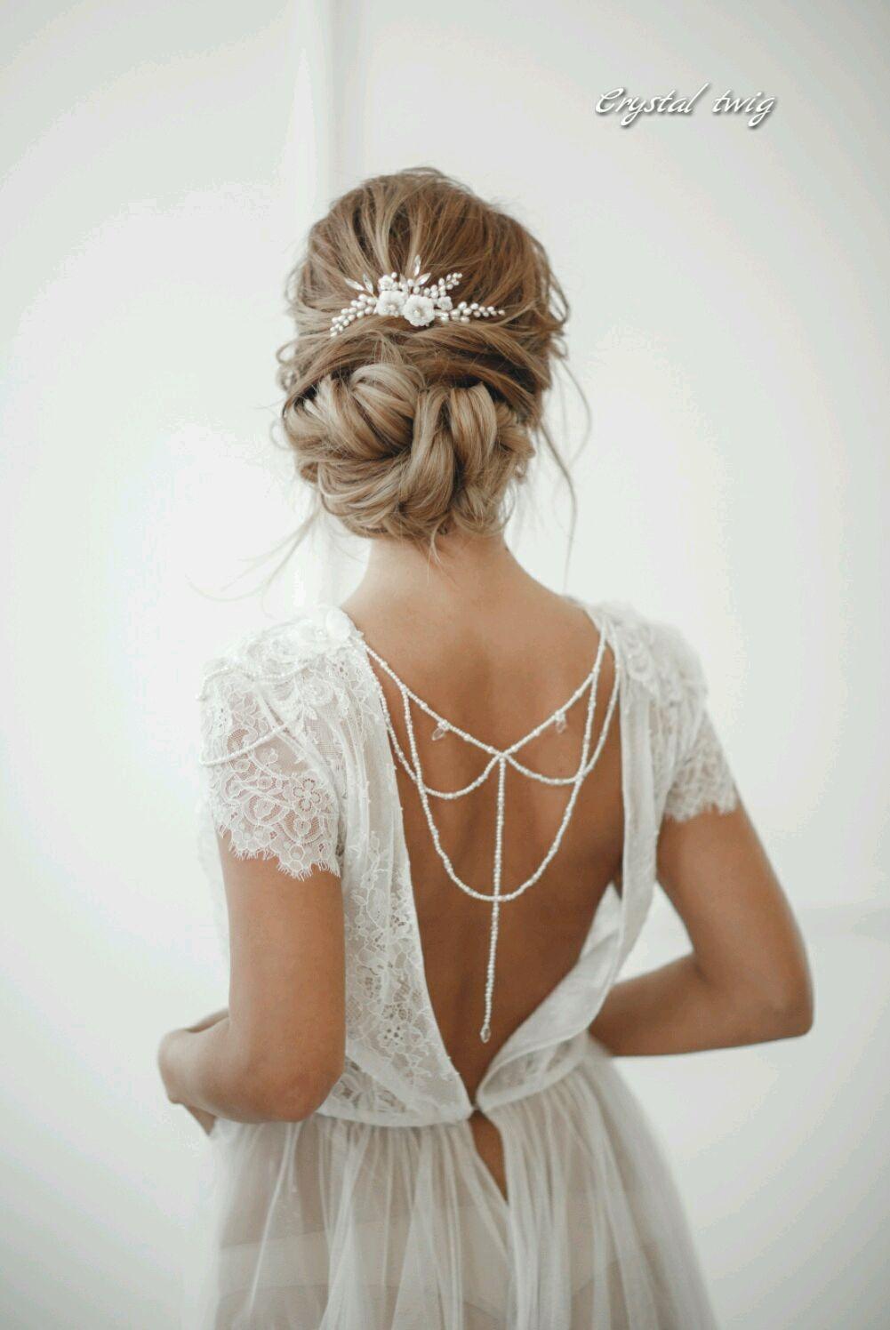 Гребень для прически невесты из жемчуга и перламутра, Украшения в прическу, Москва,  Фото №1