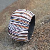 Украшения ручной работы. Ярмарка Мастеров - ручная работа браслет из полимерной глины широкий Байкальские дюны. Handmade.