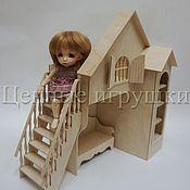 Куклы и игрушки ручной работы. Ярмарка Мастеров - ручная работа Кроватка-домик для самостоятельной сборки.. Handmade.