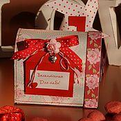 Подарки к праздникам ручной работы. Ярмарка Мастеров - ручная работа Валентинка для влюбленных. Handmade.