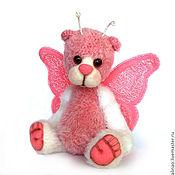 Куклы и игрушки ручной работы. Ярмарка Мастеров - ручная работа Мишка-бабочка Ника. Handmade.