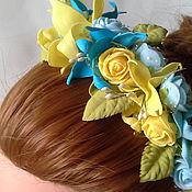 Украшения handmade. Livemaster - original item Spring headband Tamarana with lilies and roses. Handmade.