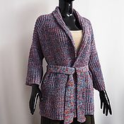 Одежда handmade. Livemaster - original item Women`s knitted merino cardigan bright melange. Handmade.