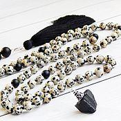 Фен-шуй и эзотерика handmade. Livemaster - original item Rosary of Jasper Dalmatian 108 stones. Handmade.