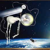 Картины и панно ручной работы. Ярмарка Мастеров - ручная работа Космонавт. Handmade.