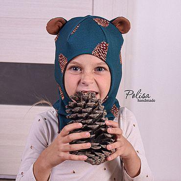 Одежда ручной работы. Ярмарка Мастеров - ручная работа Шапка шлем Мишка. Handmade.