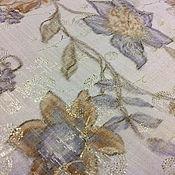Материалы для творчества handmade. Livemaster - original item Mystical cotton organza with gold threads, Italy. Handmade.