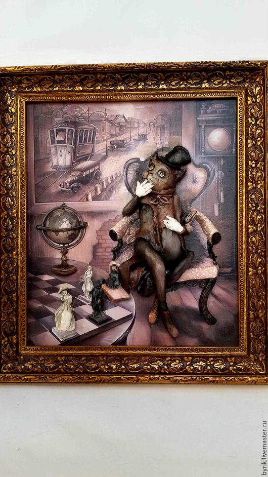 Животные ручной работы. Ярмарка Мастеров - ручная работа. Купить Объемное панно.. Handmade. Коричневый, объемная картина, краски акриловые