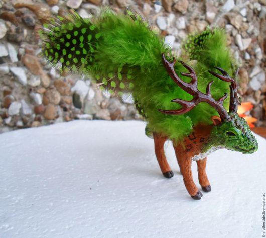 Статуэтки ручной работы. Ярмарка Мастеров - ручная работа. Купить Лесной дракон. Handmade. Комбинированный, handmade, авторская игрушка, дракон