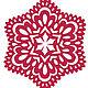 Трафареты KSA от Стамперии 15х15см Снежинка KSA001