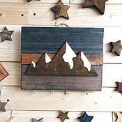 Для дома и интерьера handmade. Livemaster - original item Wooden key holder wall mountains. Handmade.