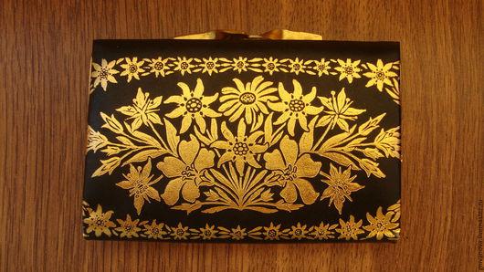 Винтажные сумки и кошельки. Ярмарка Мастеров - ручная работа. Купить КОЖАНЫЙ ВИНТАЖНЫЙ КОШЕЛЕК. Handmade. Черный, чсср