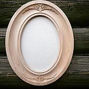 Фоторамки ручной работы. Ярмарка Мастеров - ручная работа Фоторамки: овальная рамка для вышивки,фото, картины из массива дерева. Handmade.