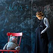 """Одежда ручной работы. Ярмарка Мастеров - ручная работа Платье и платье-передник для будущих мам """"В строгой форме"""". Handmade."""