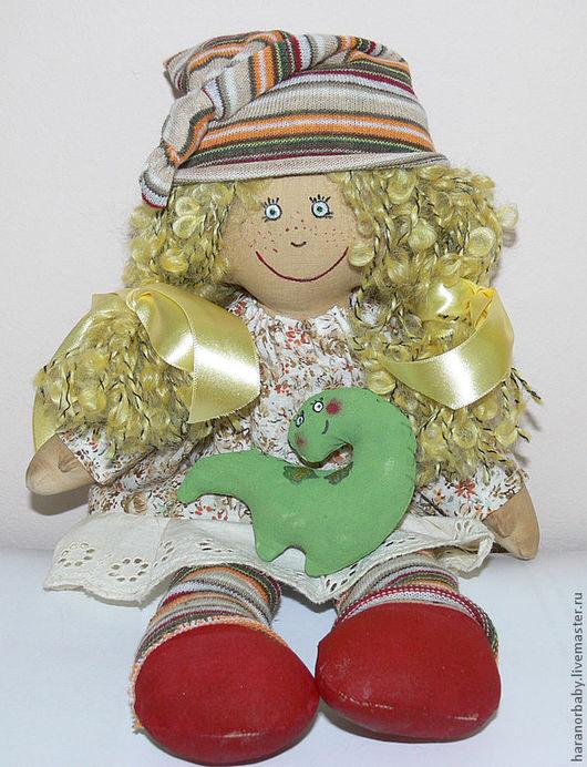 Коллекционные куклы ручной работы. Ярмарка Мастеров - ручная работа. Купить Гномочка. Handmade. Желтый, кукла текстильная, кукла авторская
