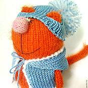 """Куклы и игрушки ручной работы. Ярмарка Мастеров - ручная работа Вязаная игрушка """"Оранжевая киса"""". (Коты. Кошки. Котята. Вязаные). Handmade."""