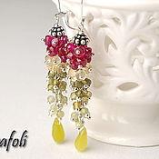 Украшения handmade. Livemaster - original item Earrings jewelry bunches of garnet, spinel. Handmade.