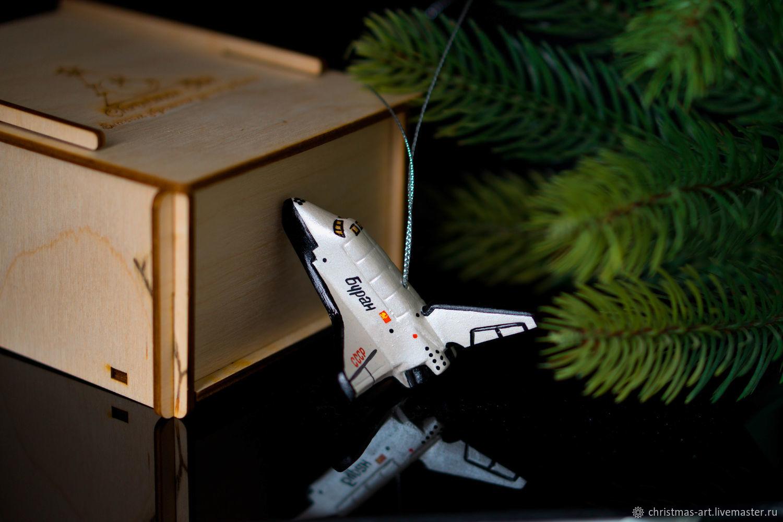 Елочная игрушка Новогодняя фарфоровая елочная игрушка игрушка Буран, Елочные игрушки, Москва,  Фото №1