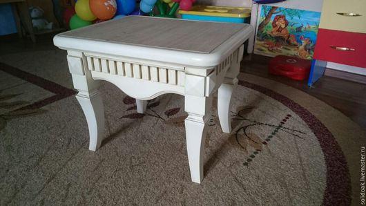Мебель ручной работы. Ярмарка Мастеров - ручная работа. Купить Пуфик из натурального дерева. Handmade. Комбинированный, столик, дерево