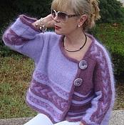 """Одежда ручной работы. Ярмарка Мастеров - ручная работа """"Лиловый закат"""" жакет вязаный авторский. Handmade."""