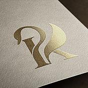 Дизайн ручной работы. Ярмарка Мастеров - ручная работа Монограмма РК. Handmade.