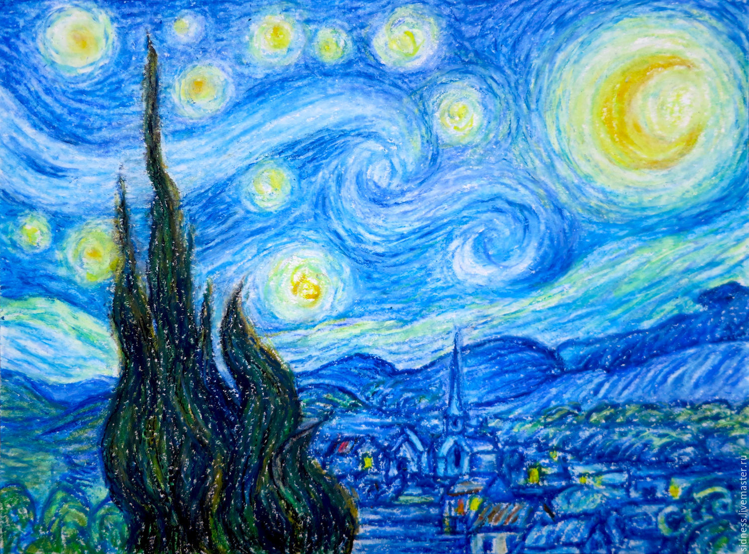 The Painting Starry Night Van Gogh Free Copy Shop Online On