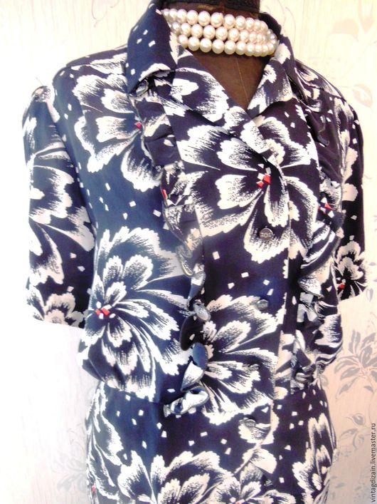 Одежда. Ярмарка Мастеров - ручная работа. Купить Костюм 100%шёлк модельный фабрика винтаж. Handmade. Платье винтажное, одежда, шёлк