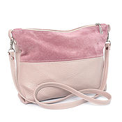 Сумки и аксессуары handmade. Livemaster - original item Pink bag with crossbody Powder crossbody shoulder strap. Handmade.