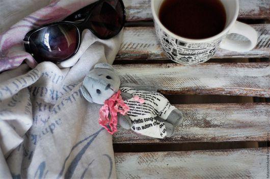 """Мишки Тедди ручной работы. Ярмарка Мастеров - ручная работа. Купить Мишка Тедди  """"gray&pink"""". Handmade. Серый, миништоф"""