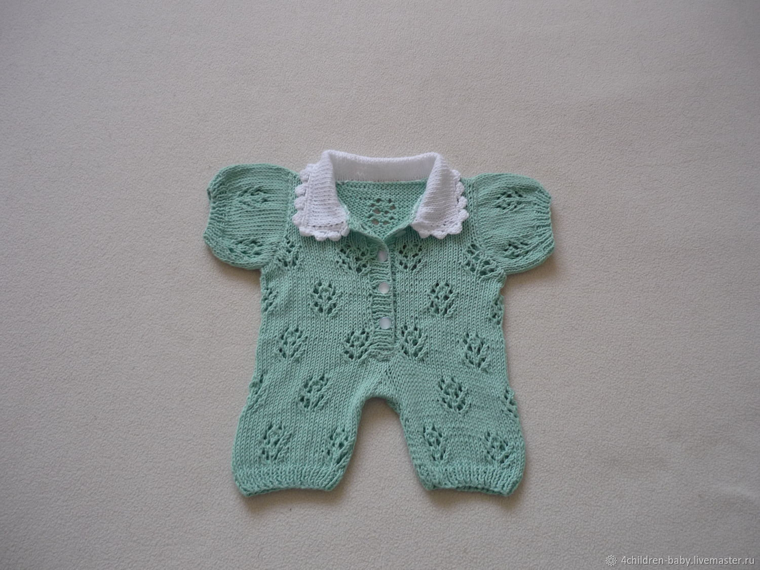 Mint summer romper, Overall for children, Moscow,  Фото №1
