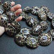Материалы для творчества handmade. Livemaster - original item Beads double-sided shell Cellana testudinaria 40h35mm. Handmade.