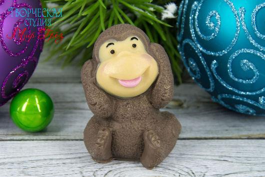 Мыло ручной работы. Ярмарка Мастеров - ручная работа. Купить Маленькая обезьянка. Handmade. Коричневый, новогодний подарок, касторовое масло