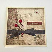 Открытки ручной работы. Ярмарка Мастеров - ручная работа Счастливая открытка. Handmade.