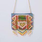Сумки и аксессуары handmade. Livemaster - original item MY THAI LOVE denim bag with embroidery. Handmade.