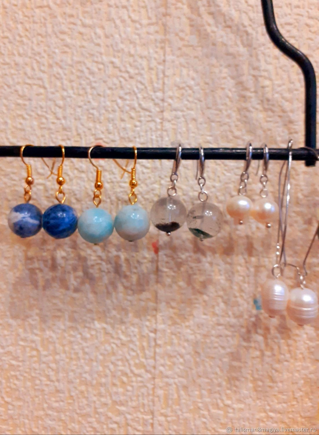 Long and short earrings with natural stones from 4 to 20 mm stones, Earrings, Moscow,  Фото №1