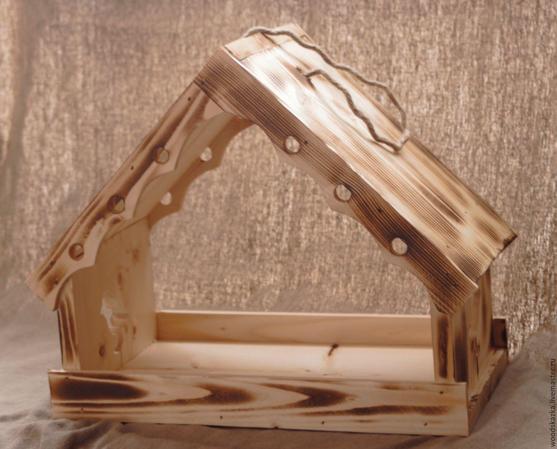 Экстерьер и дача ручной работы. Ярмарка Мастеров - ручная работа. Купить Кормушки 3 размера. Handmade. Зима, домик для птиц