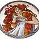 Люди, ручной работы. Ярмарка Мастеров - ручная работа. Купить Мозаичное панно (по картине А. Мухи). Handmade. Комбинированный