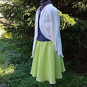 Одежда handmade. Livemaster - original item No. 191 Linen skirt the bell. Handmade.
