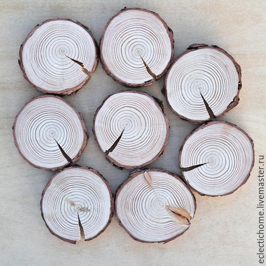 Кухня ручной работы. Ярмарка Мастеров - ручная работа. Купить Шлифованные спилы дерева (лиственницы) 8-9 см. Handmade.