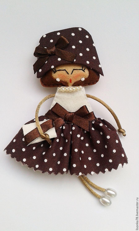 Игра в куколки шьём мягкие брошки из фетра Ярмарка 97